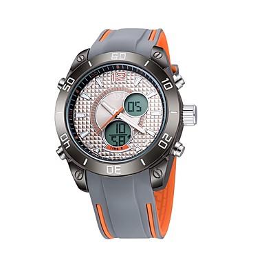ASJ رجالي ساعة رياضية ساعة رقمية ياباني كوارتز سيليكون أزرق / البرتقال 30 m مقاوم للماء رزنامه الكرونوغراف تناظري-رقمي كاجوال موضة - برتقالي أزرق / ستانلس ستيل / قضية