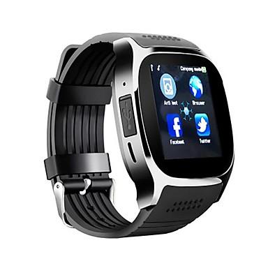 billige Herreure-Herre Sportsur Digital Watch Digital Silikone Sort / Hvid / Blåt Kalender Kronograf LCD Digital Afslappet Mode - Hvid Sort Blå / tachymeter