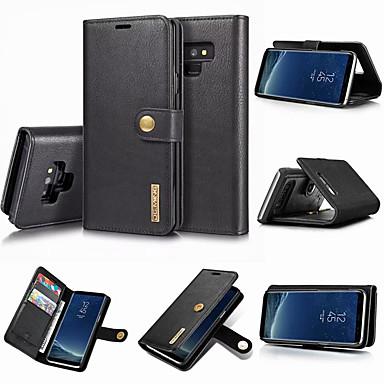 voordelige Galaxy Note-serie hoesjes / covers-hoesje Voor Samsung Galaxy Note 9 / Note 8 Portemonnee / Kaarthouder / met standaard Volledig hoesje Effen Hard aitoa nahkaa
