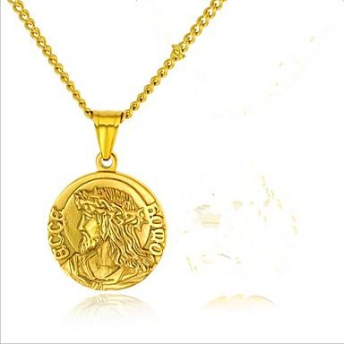 نسائي قلائد الحلي ستايل منقوش خلاق سيدات موضة الصلب التيتانيوم ذهبي فضي 57+5 cm قلادة مجوهرات 1SET من أجل حفل / مساء مناسب للبس اليومي