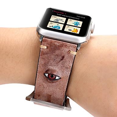 Недорогие Ремешки для Apple Watch-Ремешок для часов для Apple Watch Series 4/3/2/1 Apple Кожаный ремешок / Инструменты сделай-сам Натуральная кожа Повязка на запястье