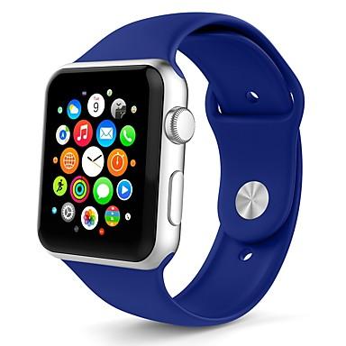 זול שעוני גברים-ג'ל סיליקה צפו בנד רצועה ל Apple Watch Series 4/3/2/1 לבן / תפוז / אפור 23cm / 9 אינץ ' 2.1cm / 0.83 אינצ'ים