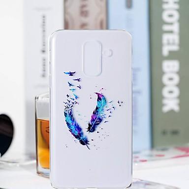 غطاء من أجل Samsung Galaxy S9 / S9 Plus / S8 Plus شفاف / نموذج غطاء خلفي الريش ناعم TPU