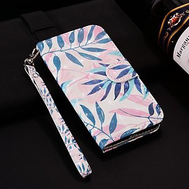 voordelige Huawei Mate hoesjes / covers-hoesje Voor Huawei Huawei P20 / Huawei P20 Pro / Huawei P20 lite Portemonnee / Kaarthouder / met standaard Volledig hoesje Planten Hard PU-nahka / P10 Lite