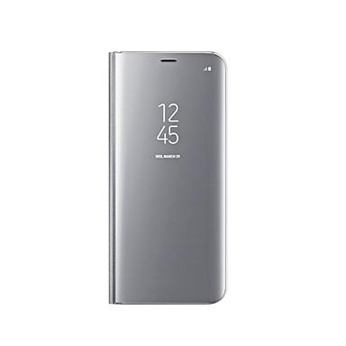 halpa Galaxy S6 kotelot / kuoret-Etui Käyttötarkoitus Samsung Galaxy S9 / S8 Pinnoitus / Peili / Flip Suojakuori Yhtenäinen Kova Silikoni varten S9 / S9 Plus / S8 Plus