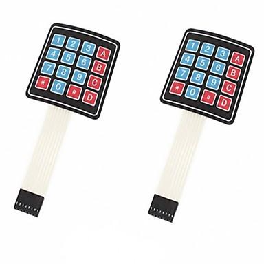 4 × 4 مصفوفة صفيف 16 مفتاح غشاء التبديل لوحة المفاتيح لوحة المفاتيح لاردوينو / avr / الموافقة المسبقة عن علم (2 حزمة)