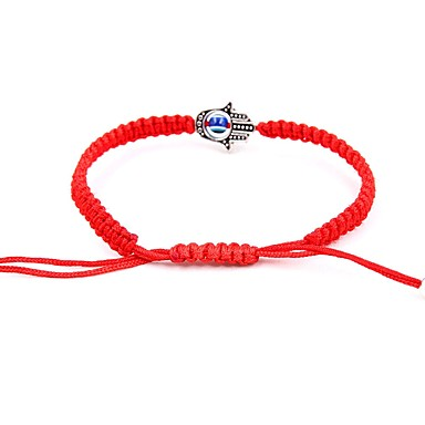 نسائي تلوح في الأفق سوار جديلي خلاق سيدات موضة النمط الصيني حبل مجوهرات سوار أحمر من أجل مناسب للبس اليومي مدرسة