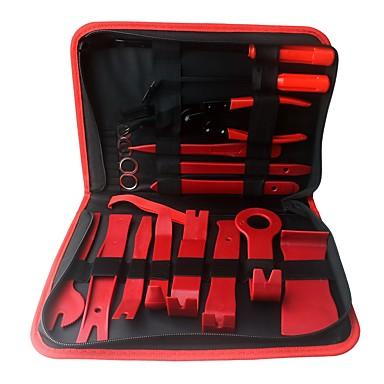 voordelige Reparatiegereedschap-Ziqiao 19 stks auto reparatie demontage gereedschap kit auto dvd stereo refit kits interieur plastic trim panel dashboard installatie removal tool