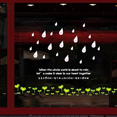 فيلم نافذة وملصقات زخرفة معاصر / العادي منقط / بسيط PVC ملصق النافذة / كوول