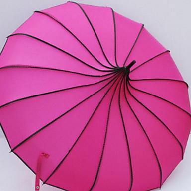 ستانلس ستيل للمرأة مشمس وممطر مظلة مستقيمة