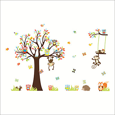 povoljno Wall Art-Dekorativne zidne naljepnice - Zidne naljepnice / Naljepnice za zidne zidove Životinje / Cvjetni / Botanički Dječja soba