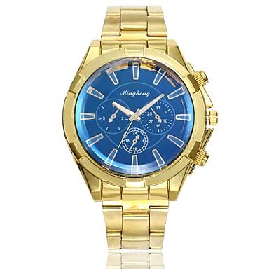 رجالي ساعة فستان ساعة المعصم كوارتز ذهبي تصميم جديد ساعة كاجوال مماثل كلاسيكي كاجوال موضة - أبيض أزرق سنة واحدة عمر البطارية