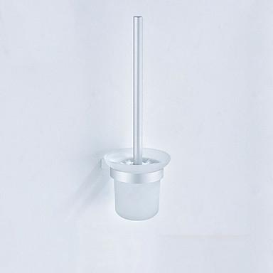 حاملة فرشاة التواليت تصميم جديد / كوول الحديث الالومنيوم 1PC حامل فرشاة الحمام مثبت على الحائط