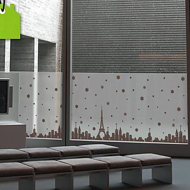 فيلم نافذة وملصقات زخرفة العادي مدن PVC ملصق النافذة