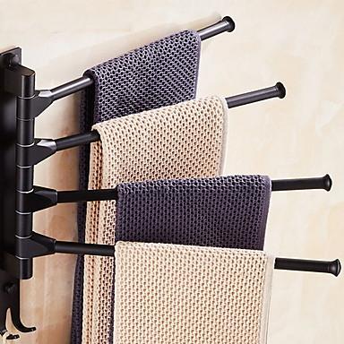 Håndklædestang Nyt Design Moderne Aluminium 1pc 4-håndklæde bar Vægmonteret