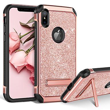 Недорогие Кейсы для iPhone-BENTOBEN Кейс для Назначение Apple iPhone XR / iPhone XS Max Защита от удара / со стендом / Покрытие Кейс на заднюю панель Сияние и блеск Твердый Кожа PU / ПК для iPhone XR / iPhone XS Max