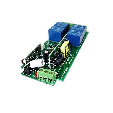 Недорогие Реле-220в 4-х полосный пульт дистанционного управления красное дерево 4 кнопки беспроводной пульт дистанционного управления