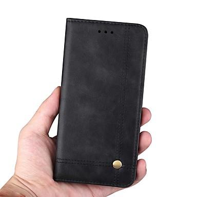voordelige Galaxy Note-serie hoesjes / covers-hoesje Voor Samsung Galaxy Note 9 / Note 8 Portemonnee / Kaarthouder / met standaard Volledig hoesje Effen / Tegel Hard PU-nahka