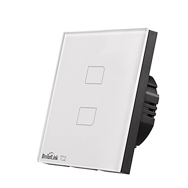 cheap Smart Switch-BroadLink Smart Switch TC2 2gang-EU for Living Room / Study / Bedroom APP Control / WIFI Control / intelligent 170-240 V