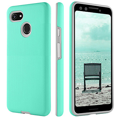 lowest price ac61e e6b33 Case For Google Google Pixel 3 / Google Pixel 3 XL Shockproof / Ultra-thin  / Wireless Charging Receiver Case Back Cover Solid Colored Hard TPU / PC