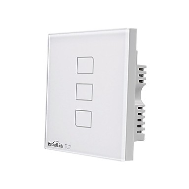 cheap Smart Switch-BroadLink Smart Switch TC2 3gang-UK for Living Room / Study / Bedroom APP Control / WIFI Control / intelligent 170-240 V