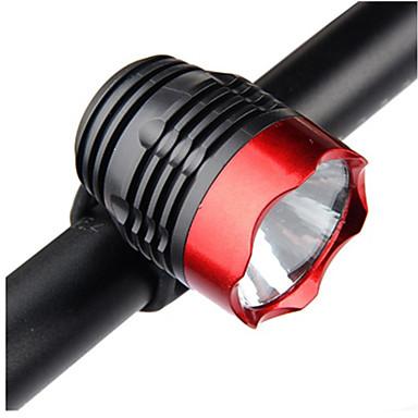 رخيصةأون اضواء الدراجة-LED اضواء الدراجة ضوء الدراجة الأمامي مصابيح الدراجة دراجة جبلية ركوب الدراجة ضد الماء محمول سهل التركيب CR2032 800 lm أبيض Camping / Hiking / Caving أخضر / وسائط متعددة