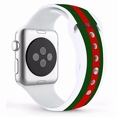 levne Pánské-Pravá kůže / Silica gel Watch kapela Popruh pro Apple Watch Series 4/3/2/1 Modrá 23cm / 9 palce 2.1cm / 0.83 palce