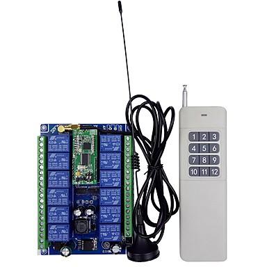 ieftine Relee-12-48v comutator cu comutare la distanță cu 12 căi pe două căi, cu telecomandă wireless de la distanță