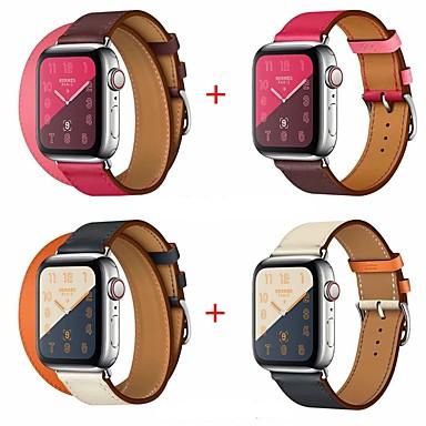voordelige Smartwatch-accessoires-Horlogeband voor Apple Watch Series 5/4/3/2/1 Apple Leren lus Echt leer Polsband