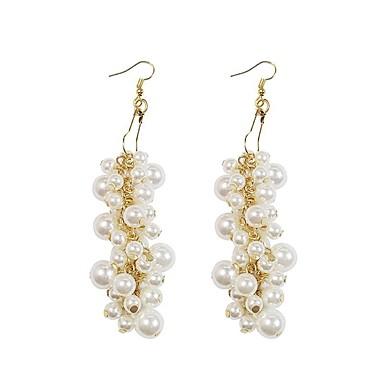 ieftine Cercei-Pentru femei Cercei Picătură Link / Lanț femei European Perle Placat Auriu cercei Bijuterii Alb Pentru Dată 1 Pair