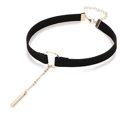 お買い得  ファッションネックレス-女性用 クラシック チョーカー 安いです レディース ドールロリータ ブラック Brown 31.5+7.5 cm ネックレス ジュエリー 1個 用途 日常 祭り