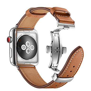 38b53aa6e حزام إلى Apple Watch Series 4/3/2/1 Apple فراشة مشبك معدني ل جلد ...