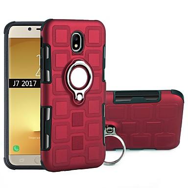 voordelige Galaxy J-serie hoesjes / covers-hoesje Voor Samsung Galaxy J7 (2017) / J5 (2017) Schokbestendig / Ringhouder Achterkant Schild Zacht TPU