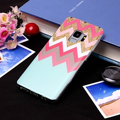 Недорогие Чехлы и кейсы для Galaxy S6 Edge-Кейс для Назначение SSamsung Galaxy S9 / S9 Plus / S8 Plus IMD / Полупрозрачный Кейс на заднюю панель Полосы / волосы Мягкий ТПУ