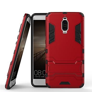voordelige Huawei Mate hoesjes / covers-hoesje Voor Huawei Mate 9 Pro Schokbestendig / met standaard Achterkant Effen / Schild Hard PC