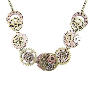 649b7664991b abordables Collares-Mujer Estilo retro Collar vintage Equipo damas Elegante  Vintage Steampunk Cool Dorado 51