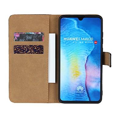 voordelige Huawei Y-serie hoesjes / covers-hoesje Voor Huawei Huawei Nova 3i / Huawei Honor 9i / Mate 10 Portemonnee / Kaarthouder / met standaard Volledig hoesje Effen Hard aitoa nahkaa