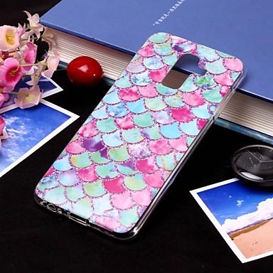 voordelige Galaxy J-serie hoesjes / covers-hoesje Voor Samsung Galaxy J8 (2018) / J7 (2017) / J7 (2018) IMD / Doorzichtig Achterkant Lijnen / golven Zacht TPU
