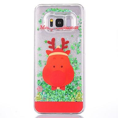 voordelige Galaxy S-serie hoesjes / covers-hoesje Voor Samsung Galaxy S8 Plus / S8 Glitterglans Achterkant Kerstmis Hard Muovi
