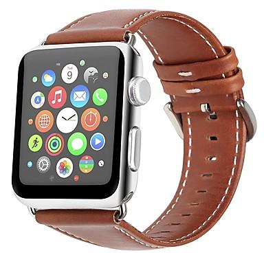 Χαμηλού Κόστους Ανδρικά ρολόγια-γνήσιο δέρμα Παρακολουθήστε Band Λουρί για Apple Watch Series 4/3/2/1 Καφέ 23 εκατοστά / 9 ίντσες 2.1cm / 0.83 Ίντσες