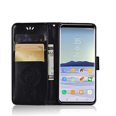 Недорогие Чехлы и кейсы для Galaxy S6 Edge-Кейс для Назначение SSamsung Galaxy S9 / S9 Plus / S8 Plus Кошелек / Бумажник для карт / со стендом Чехол Сова Твердый Кожа PU