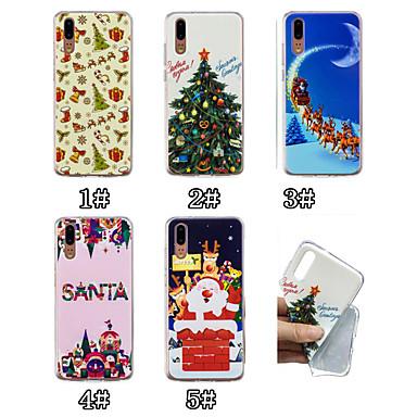 Недорогие Чехлы и кейсы для Huawei Mate-Кейс для Назначение Huawei Huawei P20 / Huawei P20 Pro / Huawei P20 lite С узором Кейс на заднюю панель Рождество Мягкий ТПУ / P10 Lite