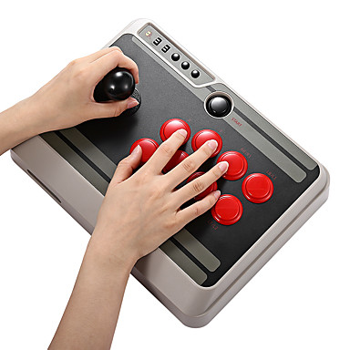 8Bitdo NES30 Customizable Bluetooth Arcade Stick Gamepad support iOS  Android PC Mac Linux