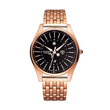 Недорогие Часы на металлическом ремешке-Муж. Нарядные часы Кварцевый Нержавеющая сталь Розовое золото Защита от влаги Фосфоресцирующий Аналоговый Классика На каждый день Мода - Розовое золото / Белый Черный / Розовое золото
