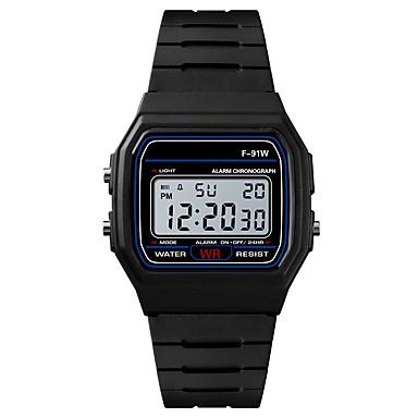 Pánské Sportovní hodinky Digitální hodinky japonština Digitální Silikon Černá / Rose 30 m Voděodolné Alarm Kalendář Digitální Módní - Černá Fuchsiová / Chronograf / Stopky / Svítící