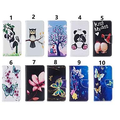 voordelige Huawei Mate hoesjes / covers-hoesje Voor Huawei Mate 10 / Mate 10 lite / Huawei Mate 20 lite Portemonnee / Kaarthouder / met standaard Volledig hoesje Uil / Panda Hard PU-nahka