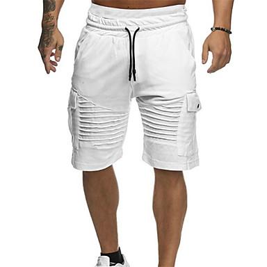 رجالي أساسي مناسب للبس اليومي شورتات بنطلون - لون سادة أخضر أبيض أحمر XL XXL XXXL