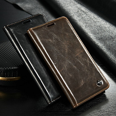 voordelige Galaxy Note-serie hoesjes / covers-hoesje Voor Samsung Galaxy Note 5 Portemonnee / Kaarthouder / met standaard Volledig hoesje Effen Hard PU-nahka