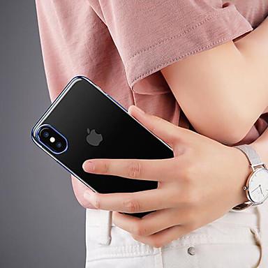 voordelige iPhone-hoesjes-hoesje Voor Apple iPhone X Schokbestendig / Transparant Achterkant Effen Zacht TPU