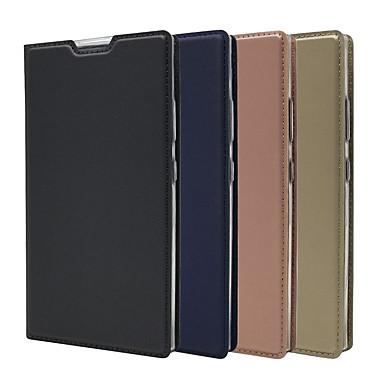 voordelige Hoesjes / covers voor Sony-hoesje voor sony xperia xa2 ultra / xperia 10 plus ultradun / flip / met standaard full body koffers stevig gekleurd hard pu leer voor sony xperia l1 / xperia l2 / sony xa1 / xz3 / xz2 premium / xz2